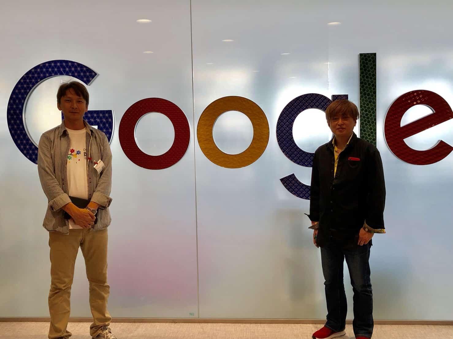 Googleのオフィスにて金谷さんと記念撮影